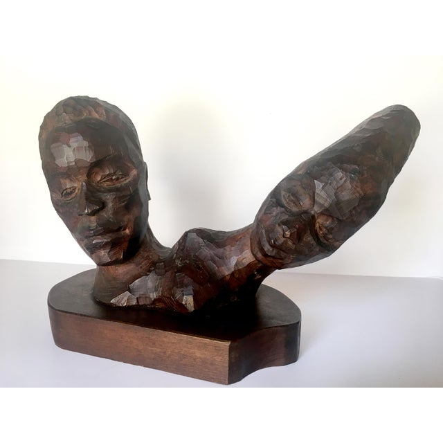 Carved 2-Headed African Bust - Image 2 of 11