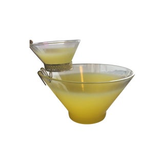 60s Yellow Ombré Chip and Dip Bowl