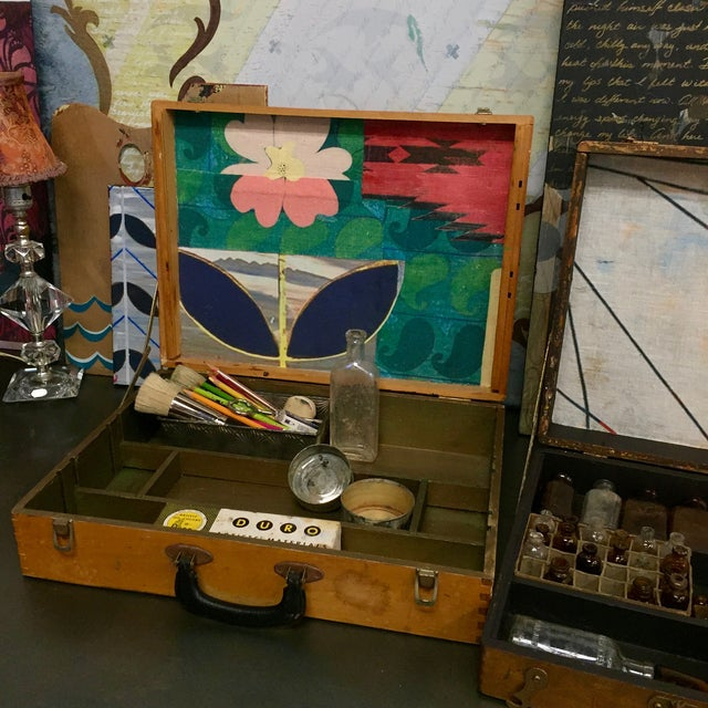 Image of Vintage Artist Box With Collage Interior