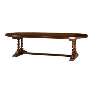 Oval Walnut Trestle Table
