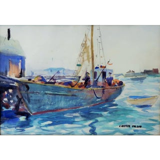 Original Chester Colson Watercolor Painting