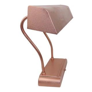 Rose Gold Copper Adjustable Goose Neck Desk Lighting Table Lamp