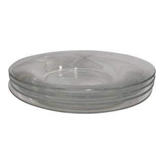 Baccarat Clear Glass Plates - Set of 4