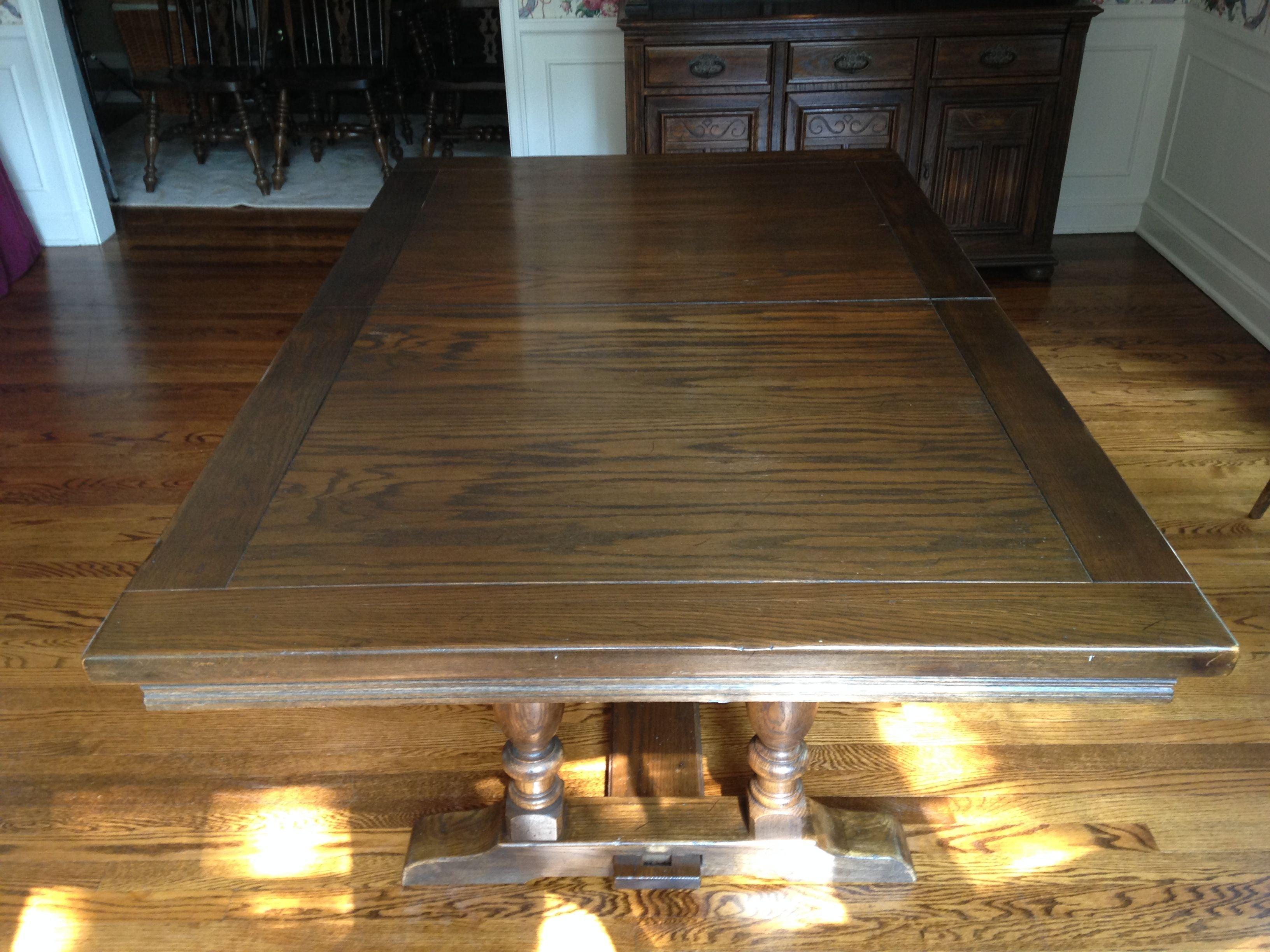 Vintage Ethan Allen Royal Charter Oak Dining Table Chairish