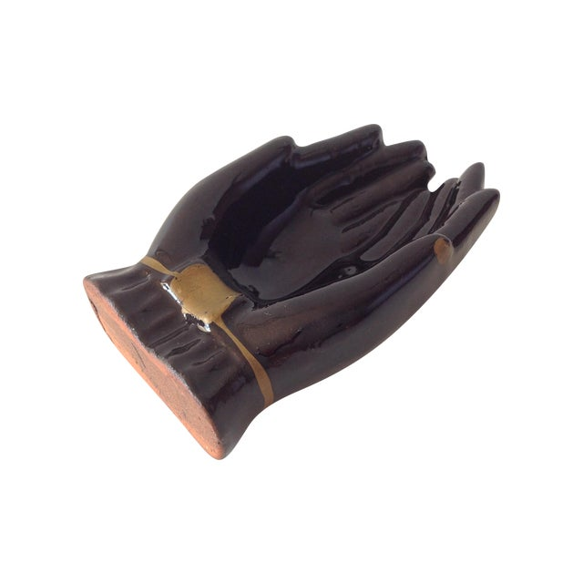 Vintage Individual Hands-Shaped Portable Ashtray - Image 1 of 8