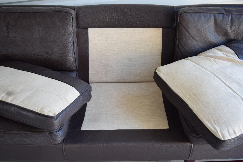 Georg Thams Down Filled Leather U0026 Rosewood Danish Sofa   Image 7 Of 10