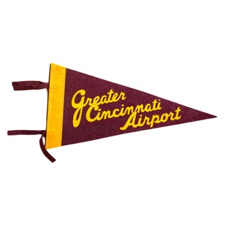 Vintage Greater Cincinnati Airport Felt Flag