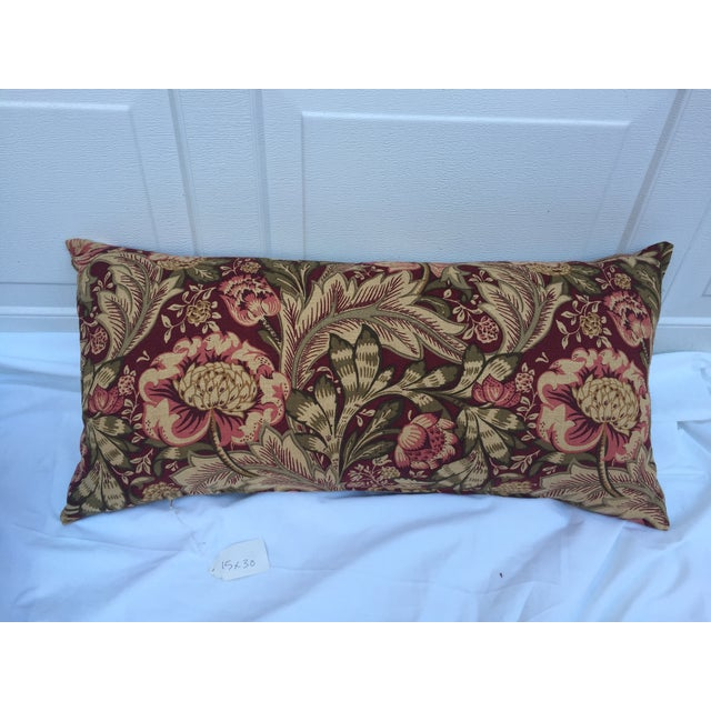 Woven Floral Pillow - Image 2 of 5