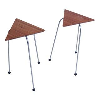 Pair of Mahogany Tripod Tables
