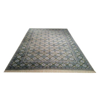 Vintage Persian Hand Made Knotted Rug - 9′ × 12′
