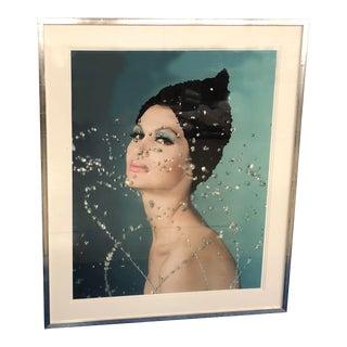 "Vogue Magazine October 1960 ""Model & Water Drops"""
