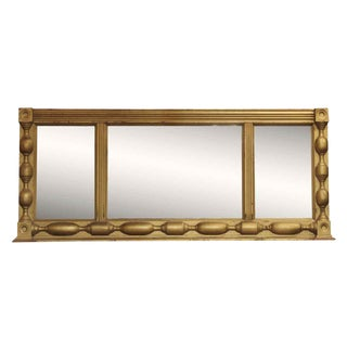 Victorian 3-Part Gold Painted Wood Mirror