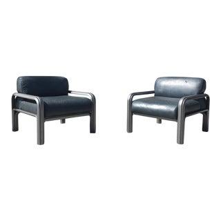 Knoll Gae Aulenti X Italian Club Chairs - A Pair