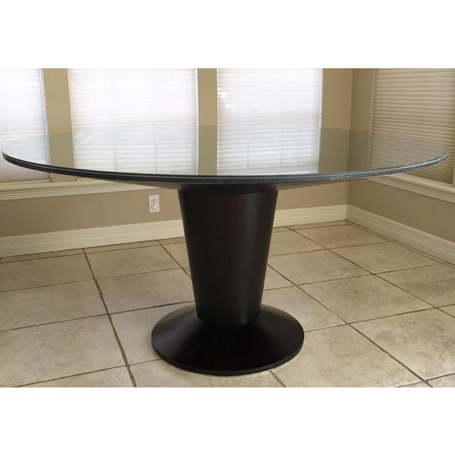 Image of Modern Wenge Black/Brown Round Dining Table