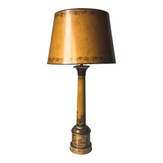 Neoclassical Italian Tole Lamp & Shade