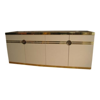Pierre Cardin for Dillingham Cream & Gold Tone Credenza