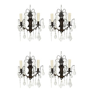 Crystal Candle Style Sconces -Set of 4