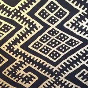 Turkish Kilim Black Wallpaper