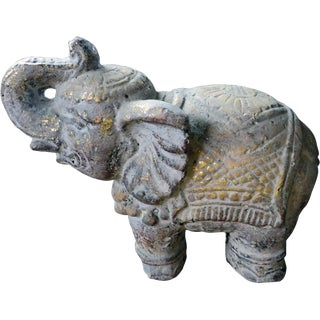 Indonesian Concrete Elephant Statue