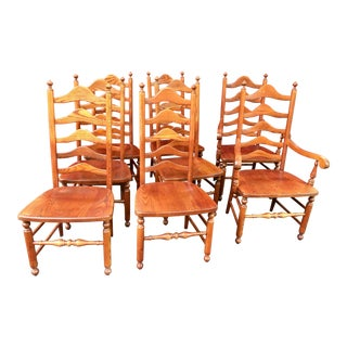 Traditional Ladder Back Dining Chairs - Set of 8