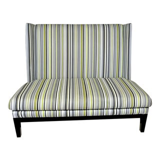 CB2 Striped Briar Loveseat