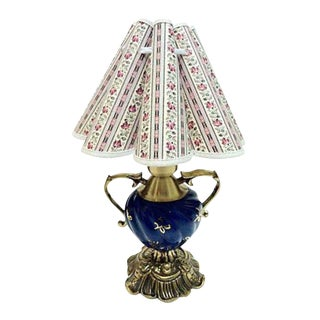Gustavian Style Blue & Gold Table Lamp