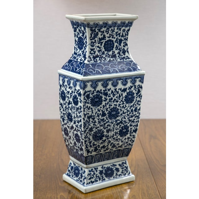 Image of Blue & White Chinese Ginger Vases - A Pair