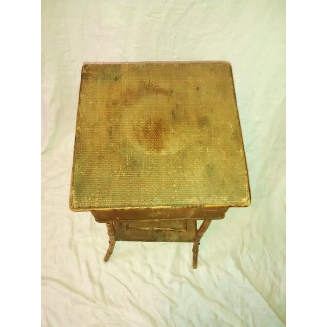Image of 1890's Antique Bamboo Embroidery Table