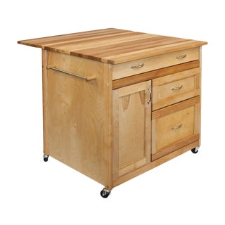 Contemporary Birch Kitchen Island