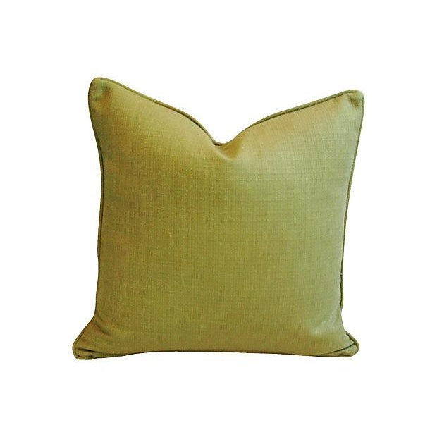 Lush Tropical Floral Barkcloth Pillows - Pair - Image 6 of 7