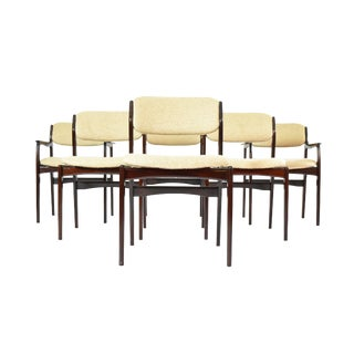 Benny Linden Mid Century Modern Rosewood Dining Chairs - Set of 6