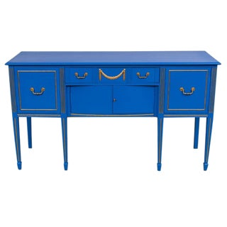 Federal Style High Desk Painted Blue
