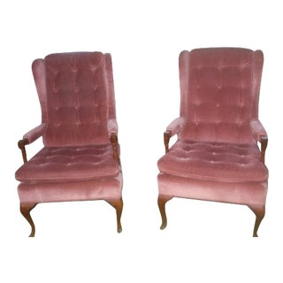 Fairfield Rose Parlor Chairs - A Pair