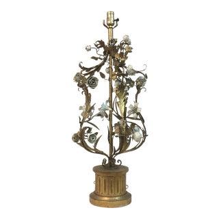 Italian Floral Iron Lamp