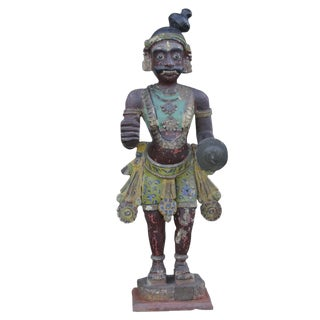 Antique Tribal Warrior Statue