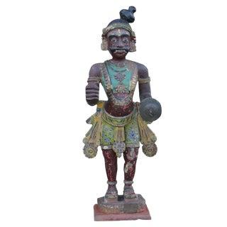 Antique Tribal Warrior Statue