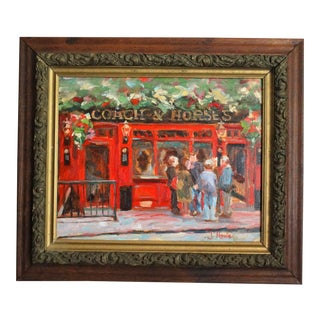 Coach & Horses Impressionism Oil Painting