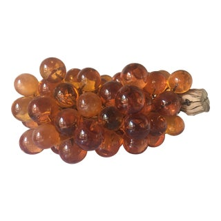 Mid Century Amber Lucite Grapes