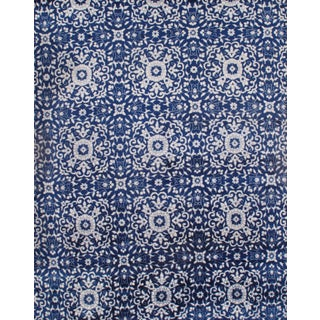 Pasargad Ny Indo Blue Modern Hand-Knotted Rug - 8′ × 10′