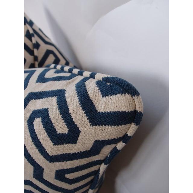 Navy Geometric Schumacher Pillow - Image 3 of 5