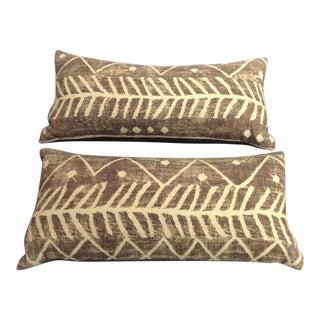 Bohemian Print Linen Pillows - A Pair