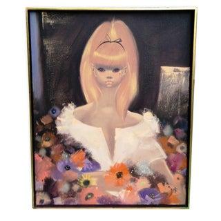 Original Pantuhoff Rare Big Eyes Girl Pink Hair