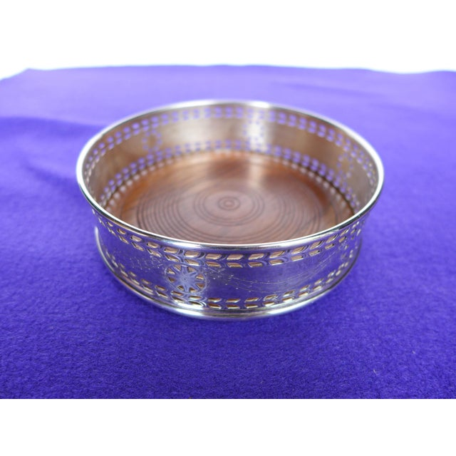 Image of Pierced Silver Plated Wine Coaster