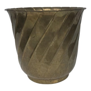 Brass Fluted Jardiniere Planter