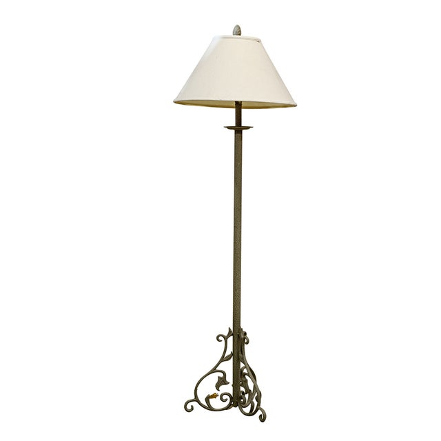 Image of Column Floor Lamp with Scrolled Base