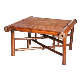 Vintage Brown Bamboo Coffee Table
