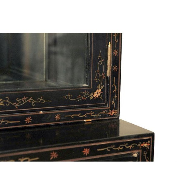 Image of Monumental Black Lacquer and Gold Leafed Chinoiserie Breakfront