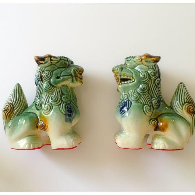 Ceramic Foo Dog Figurines - Pair - Image 2 of 10