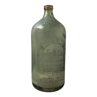 Vintage Clear Glass Seltzer Bottle