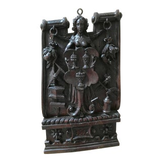 16th Century Hand Carved French Panel